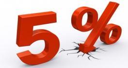 Скидка 5% при регистрации с сайта